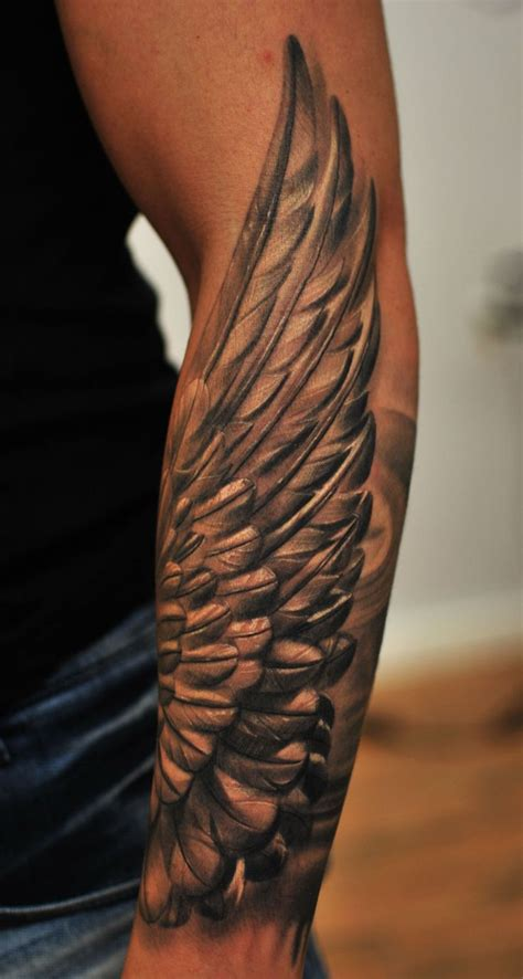forearm men tattoo best 25 wing ideas on wing