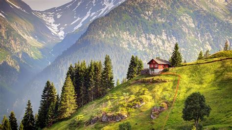 house on the hill desktop wallpaper house in switzerland wallpapers