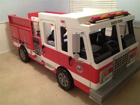 Fire Truck Bed Fireman Bunk Bed