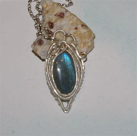silver plated wire for jewelry labradorite pendant labradorite jewelry silver plated