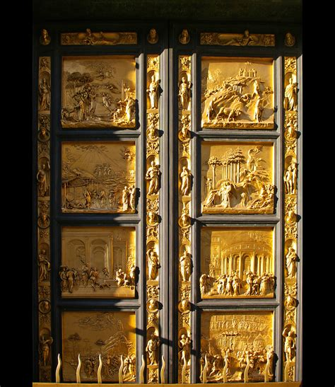 Ghiberti Doors by The Baptistery Doors In Florence So What Italy Beyond