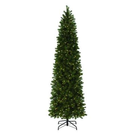 home depot 9 foot douglas fir artificial treee martha stewart living 9 ft indoor pre lit led downswept douglas fir slim artificial