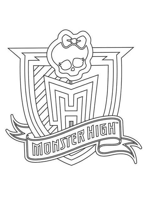 monster high logo coloring pages monster high colouring leuke kleurplaten pinterest