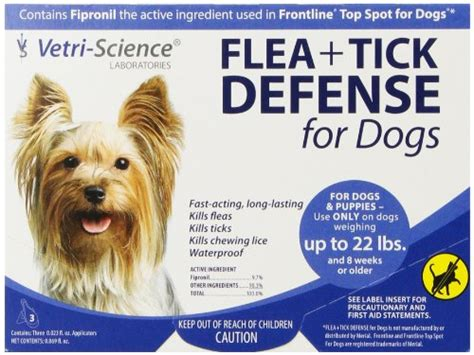 flea tick and heartworm prevention for dogs 187 vetri science laboratories flea tick defense for dogs and puppies upto 22 pound