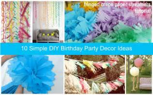 someday crafts simple diy party decor ideas 10 cute birthday decoration ideas birthday songs with names