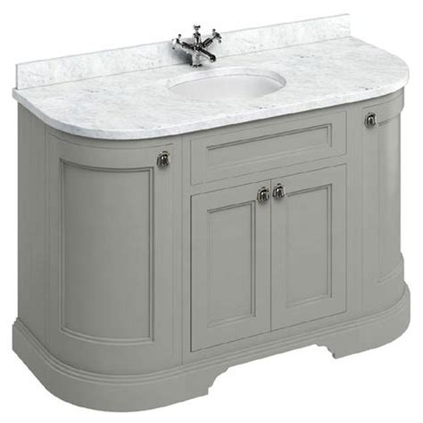 burlington 134 4 door curved vanity unit minerva worktop