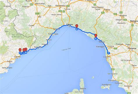 riviera map italian riviera map my