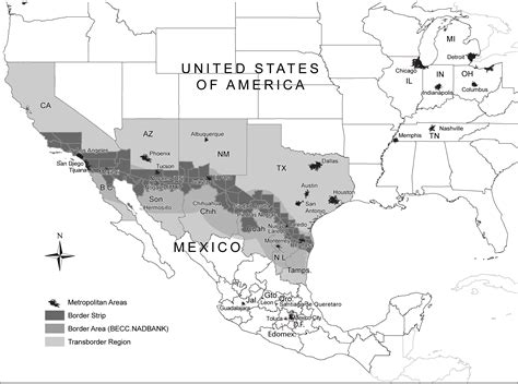 usa mexico border map trade flows between the united states and mexico nafta
