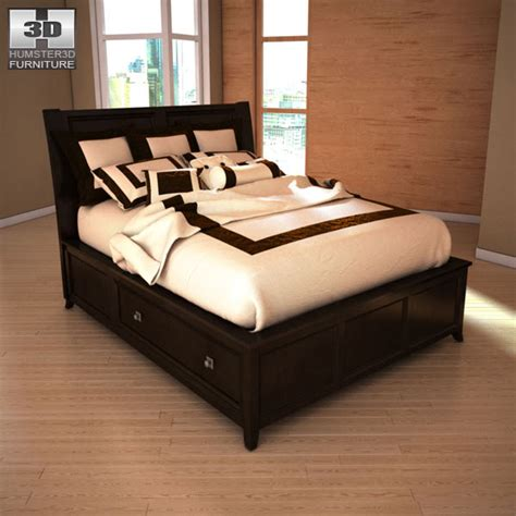 martini suite bedroom set martini suite storage bedroom set 3d model humster3d