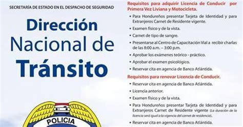 honduras requisitos para la obtenci 243 n de la licencia de - Preguntas De Examen Para Licencia De Conducir Honduras