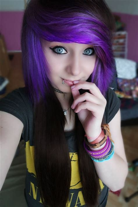hair at 47 pretty girls with purple hair www pixshark com images