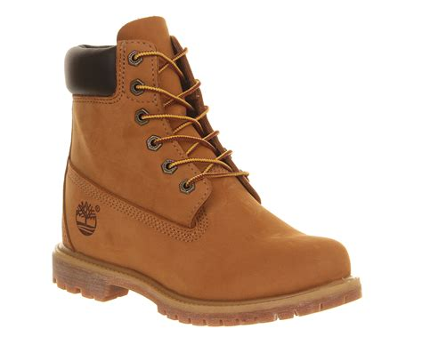 timberland wedge boots timberland premium wedge boot wheat nubuck ankle