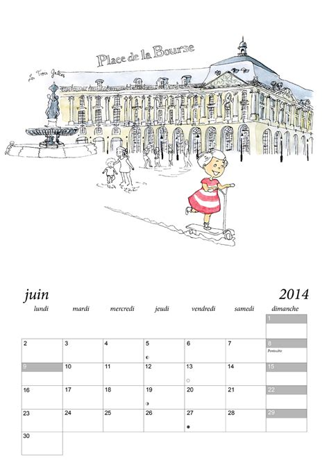 Calendrier Bordeaux Calendrier De Bordeaux 7 Juliebulle Illustration Bordeaux