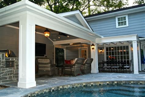 covered garage patio cover built off garage outdoor kitchen in memorial