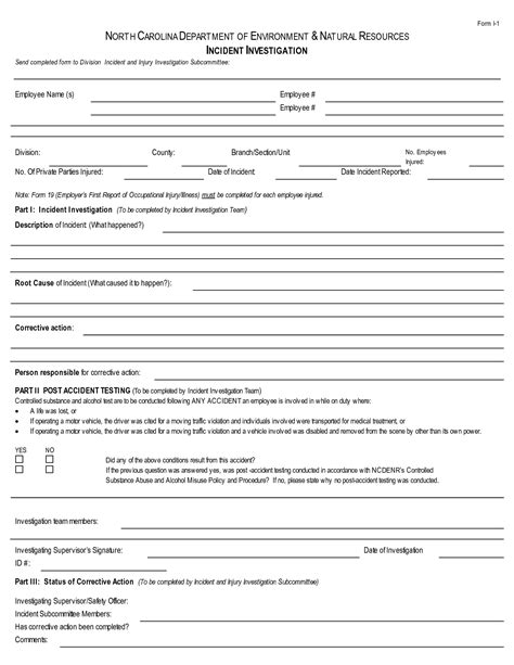 investigation report form template best photos of safety incident investigation template
