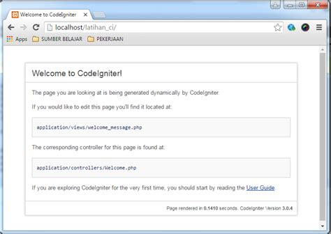codeigniter setup tutorial welcome codeigniter