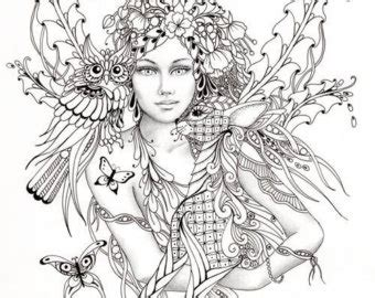 intricate fantasy coloring pages fairy of the forest fairy tangles coloring sheet fairies