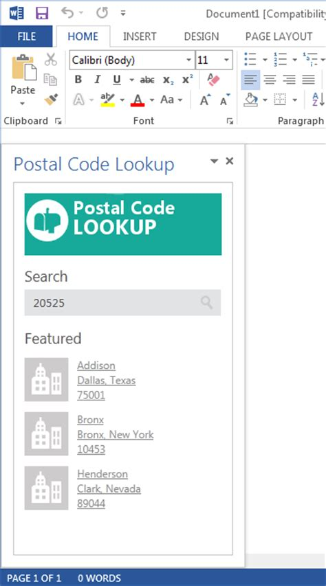 Post Office Zip Code Lookup by Office 2013 Ux Guidelines For Excel And Word Content And