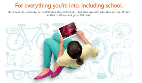 Apple 100 Gift Card Back To School - apple launches back to school promo with 50 100 itunes gift card credit iphone in