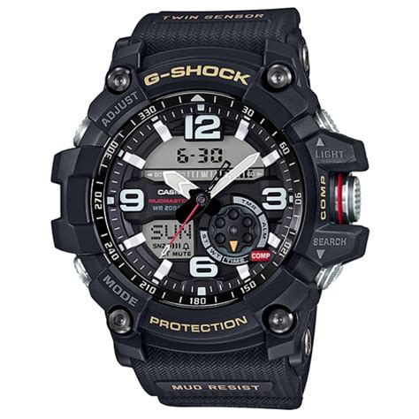 G Shock Gpg 1000 Black casio g shock gg 1000 1a dr mudmaster sensor digital s black ebay