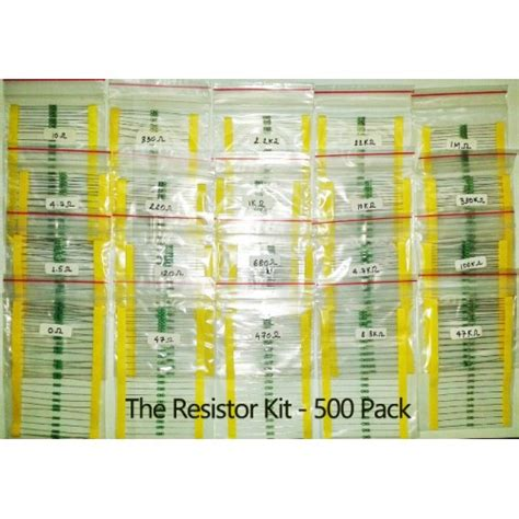 resistor kit india resistor kit 500 pack 1 4 w at mg labs india