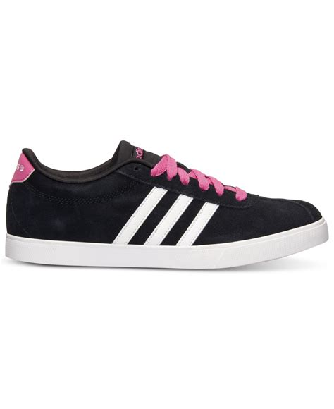 lyst adidas s courtset casual sneakers from finish line in pink