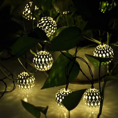 Globe Solar Power String Lights For Outdoor Garden Party Solar String Patio Lights
