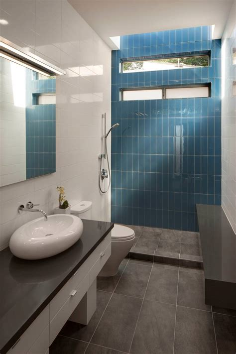 bathroom tile accent wall terracotta bathroom floor wood floors