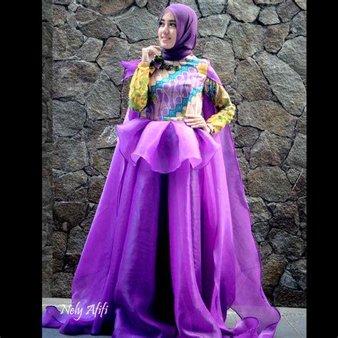 Gaun Pengantin Organza gaun muslim pesta organza batik