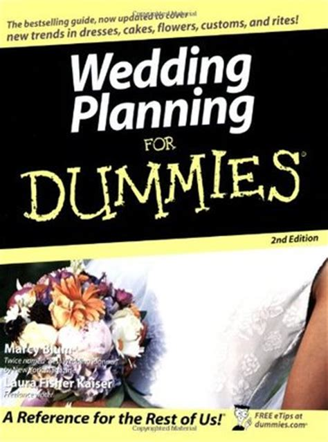 Wedding Planner For Dummies by Wedding Planning For Dummies By Marcy Blum Reviews