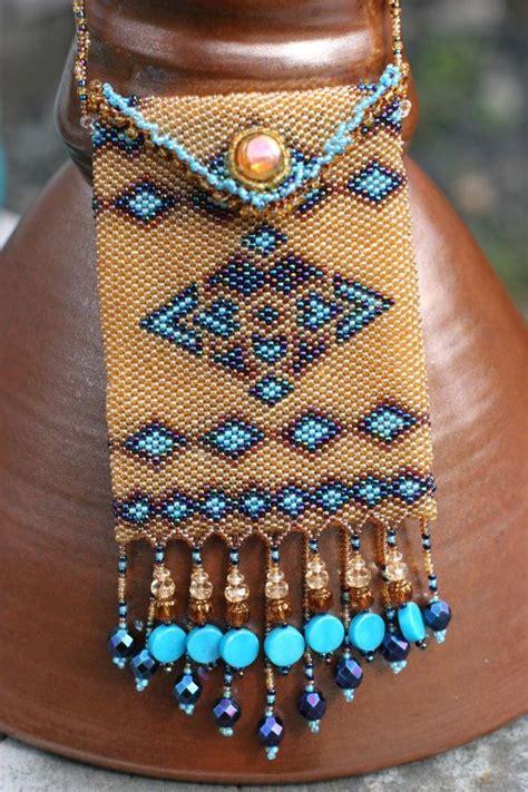 desert oasis beaded amulet bag