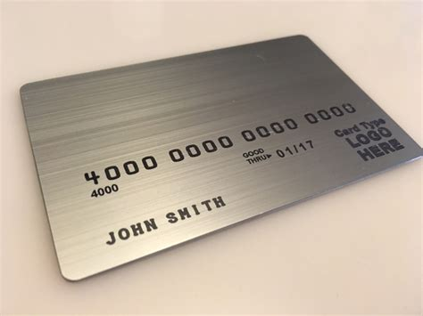 Metal Card Template by Custom Brushed Stainless Steel Metal Cards