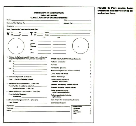 Eye Exam Report Template