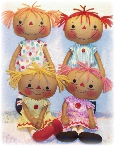pattern fabric doll cloth doll pattern pdf pattern rag doll pattern sewing