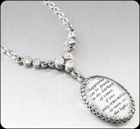 jewelry inspiration inspirational jewelry quote pendant from blackberrydesigns