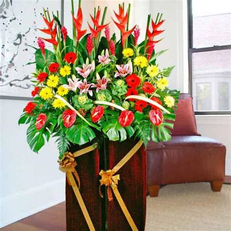 Flower Vase Shop Singapore by Heliconia Anthurium Opening Flowers Delivery Grand