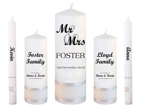 Wedding Font Set by Wedding Candle Set Deluxe Mr And Mrs Font 1
