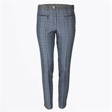 Grey Patterned Trousers | gustav patterned straight leg trousers grey mr mrs