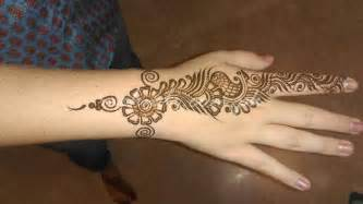 simple mehndi designs fingers simple mehndi flower