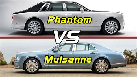 bentley mulsanne vs rolls royce phantom bentley mulsanne vs 2018 rolls royce phantom viii