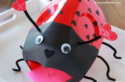 valentines card boxes diy ladybug and milk jug card boxes