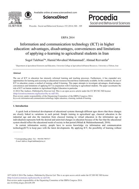 research papers on use of ict in education information and communication technology pdf