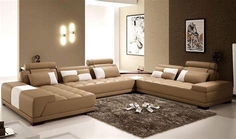 living in one room the interior of a living room in brown color features