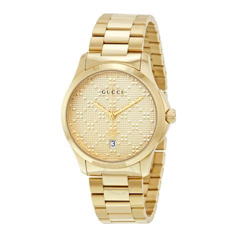 gold gucci pattern gucci g timeless yellow gold diamond pattern dial quartz