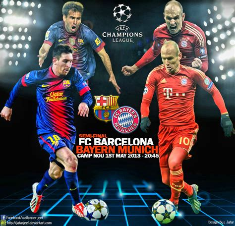 wallpaper barcelona vs bayer munchen fc barcelona vs bayern munich by jafarjeef on deviantart