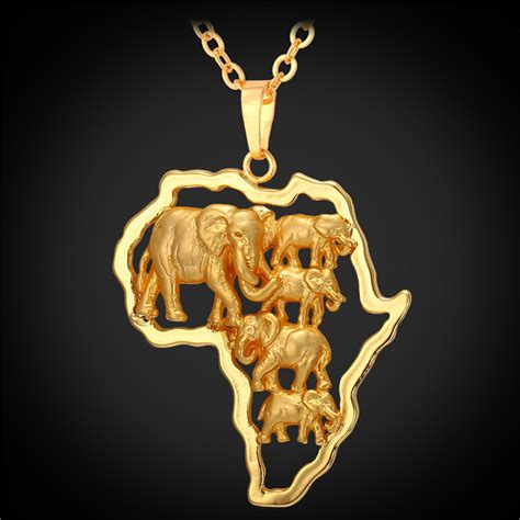 africa map jewellery aliexpress buy yellow gold plated map
