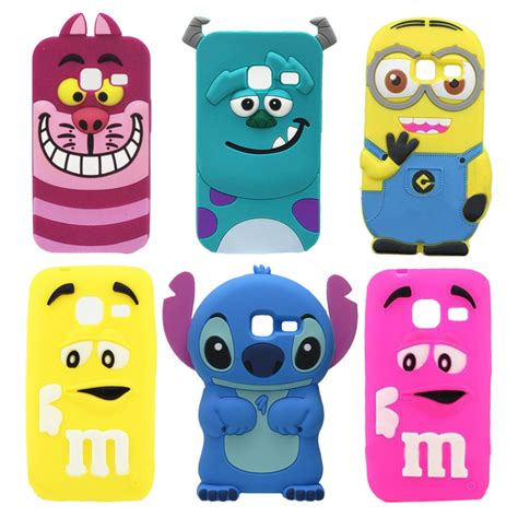 Samsung Galaxy J1 Mini 3d Sulley Stitch Soft Casing Bumper new 3d minions stitch cat silicone for samsung galaxy j1 mini 2016 j105 j105h