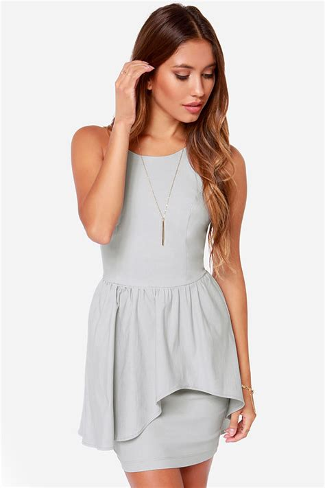 Pretty Light Grey Dress   Cocktail Dress   $42.00