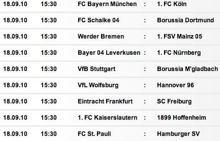Bundesliga Calendario Fechas Bundesliga Adagio De Vicereine