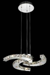 Led Chandelier Atom 15 Light 20in Chrome Modern Led Pendant Chandelier Modern Chandeliers New